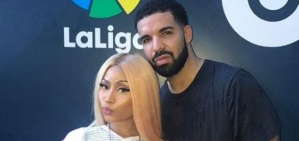 Nicki Minaj posando com Drake (Foto: Instagram)
