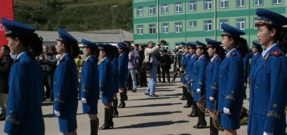 North Korean women soldiers on parade.https://pixabay.com/en/parade-women-north-korea-music-535179/