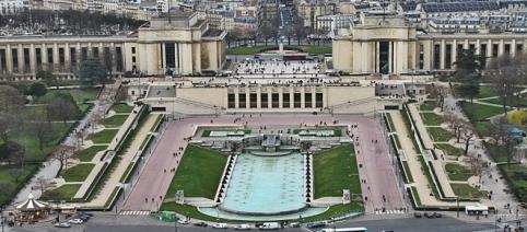 plaza de Trocadero, lugar emblemático de París