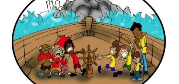"""""""Esquerda"""" e """"direita"""". Todos no mesmo barco. ( Imagem: Google)"""