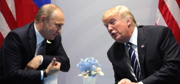 Il presidente russo Vladimir Putin e il presidente americano Donald Trump