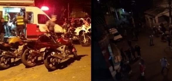 """Polícia montou esquema para acabar com """"pancadão"""" em Paraisópolis - Montagem"""