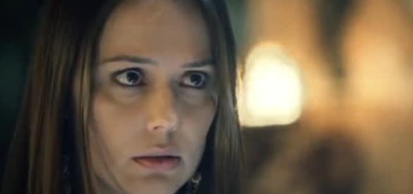 Dana ri de Absalom na novela (Foto:Reprodução/Record TV)