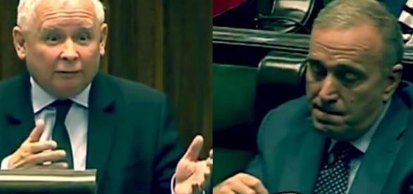 Jarosław Kaczyński vs. Grzegorz Schetyna (źródło: youtube.com).