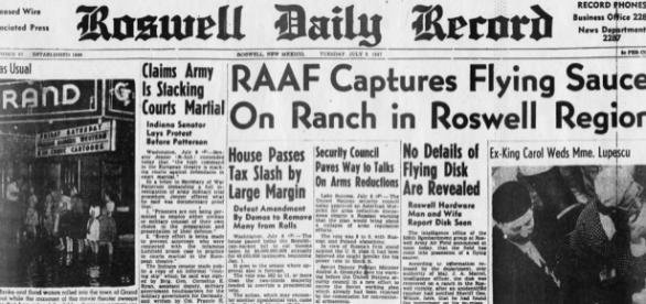 Jornal de 1947 publicou notícia de que militares haviam encontrado destroços de um OVNI acidentado nos EUA