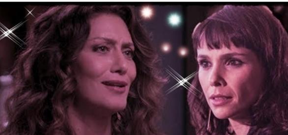 Na novela 'A Força do Querer', Joyce e Irene são rivais (Foto: Reprodução/ Montagem)