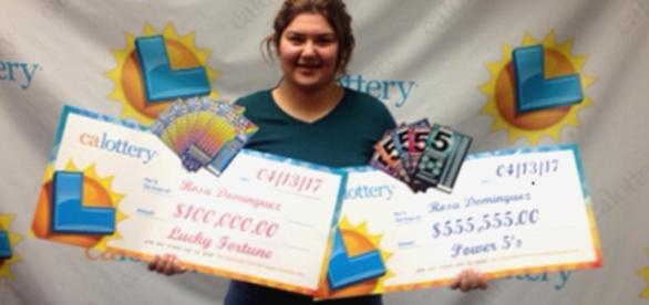 Rosa Dominguez ganhou duas vezes na mesma semana na loteria.