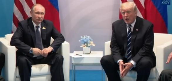 Russian President Putin and U.S. President Trump. / [Image screenshot from White House via YouTube:https://youtu.be/OF_XYjBCxq0]