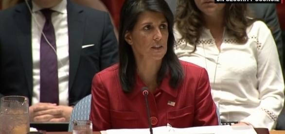 U.S. Ambassador to the UN Nikki Haley / [Image screenshot from CNN via YouTube:https://youtu.be/38wl-07d8RI]