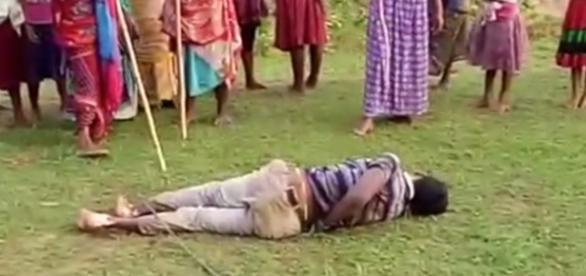 Homem é amarrado e espancado até a morte (Foto: Reprodução)