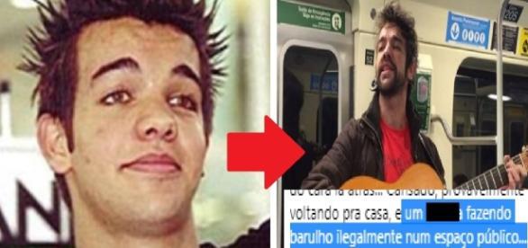 Cantor é ofendido por trabalhar no metrô - Google