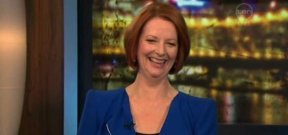 Julia Gillard questions Trump's state of mental health. Photo via RoveOnlineClips, YouTube.