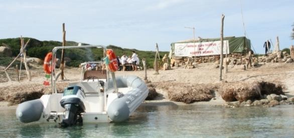 L'accampamento degli indipendentisti a Malu Entu nel 2008 (Foto Paolo Camedda)