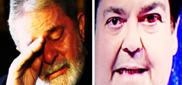 Lula diz que Globo quer levar Faustão ao poder (Foto: Reprodução/ Montagem)