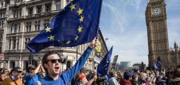 Marș pro-UE în Londra, capitala Regatului Unit