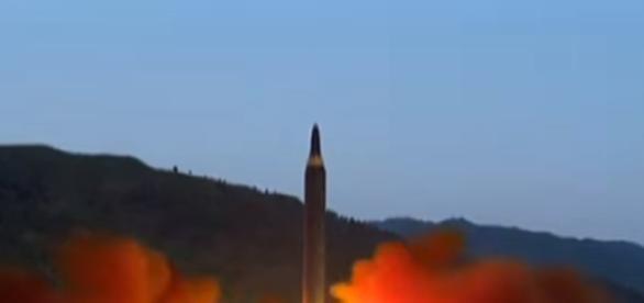 North Korean missile launch. Image credit Matt Novak | Youtube