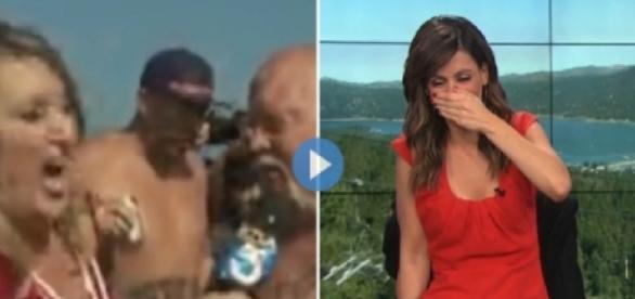 Repórter passa por situação nojenta em transmissão ao vivo (Foto: Reprodução)