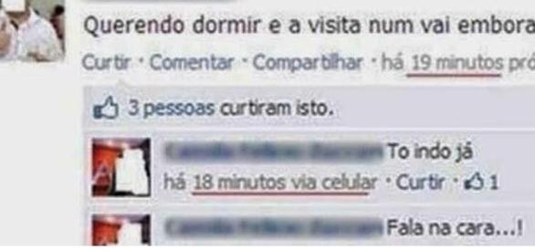 Algumas pessoas literalmente não sabem usar o Facebook (Foto: Reprodução)