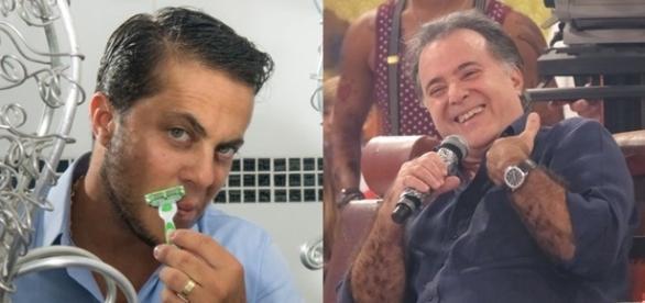 Após hormônios, peito de Thammy é comparado ao de Tony Ramos (Foto: Reprodução)