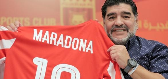 "Football star Maradona heaps praise on Putin and calls him a ""phenomenon"" (Image Credit: sputniknews.com)"