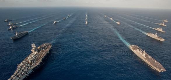 US sent small armada to South China Sea (image Credit: businessinsider.com)