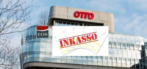 Zur Ottogroup gehört EOS-Inkasso, Kunden sind der hauseigene Ottoversand oder auch die Telekom / Fotos: Ottogroup, gulesider.no, EOS (Montage)