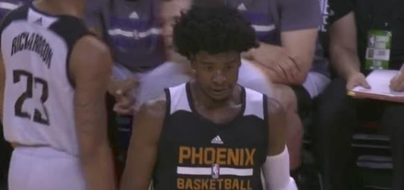 Josh Jackson scored 18 points in his NBA Summer League debut on Friday night. [Image via NBA/YouTube]