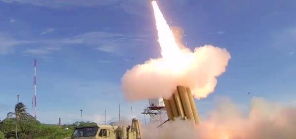 MDA's missile defense flight test. Photo via AiirSource Military, YouTube.