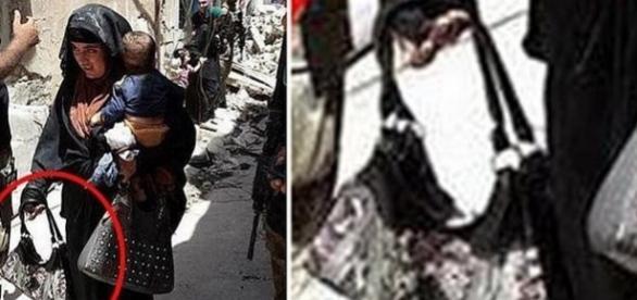 O femeie care ține în mână un detonator s-a aruncat în aer cu copilul în brațe în Mosul - FOTO: AL-MAWSLEYA TV