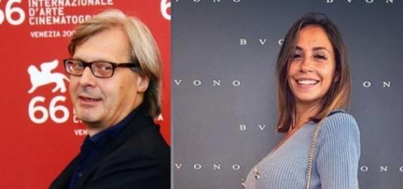 Vittorio Sgarbi e Malena la pugliese