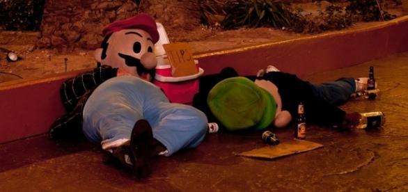 Drunk Mario and Luigi via Flickr