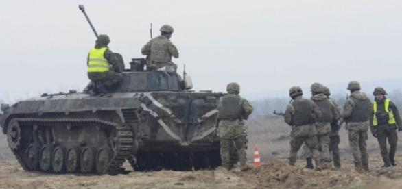 Ukrainian troops on manuevers (US Army)