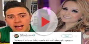 Whindersson Nunes brincou com Larissa Manoela