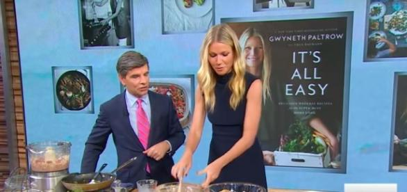 Gwyneth Paltrow cookbook gets funny and helpful review. Source: Youtube/Good Morning America