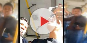 Caso do suposto pastor assediando jovem dentro de ônibus viraliza na web (Foto: Captura de vídeo)