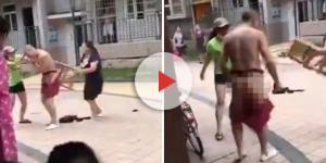 Homem leva uma surra de duas mulheres