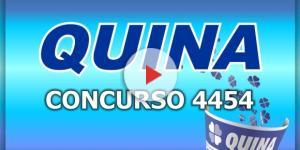 Sorteio da Quina, pelo concurso 4454