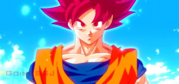 Goku in his Super Saiyan God form - ImGoingSSJ via YouTube