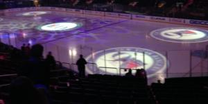 A photo of MSG ice prior to Rangers' home opener provided by Matthew Blittner