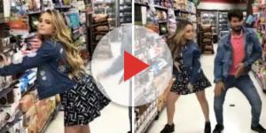 Larissa Manoela dançando com um amigo