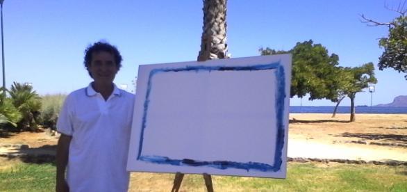 Ignazio Pensovecchio con la sua nuova opera