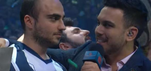 Liquid's Captain KuroKy being interviewed after their win in the TI Grand Finals (c) Just Want to Play A Game | YouTube