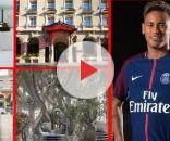 Neymar está hospedado no Hotel Royal Monceau, em Paris