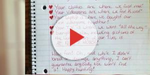 A carta chamou a atenção pela criatividade da moça ( Foto - Reprodução )