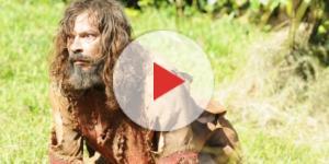 Nabucodonosor vira um animal na novela (Foto: Reprodução/Record TV)