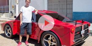 Jovem baiano ficou famoso após criar a primeira Ferrari com menos de R$ 6 mil