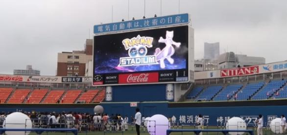 "Mewtwo finally introduced during the ""Pokemon GO"" Stadium event in Yokohama, Japan."