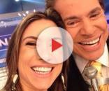 Apresentadora Patrícia Abravanel e Silvio Santos