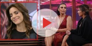 "Pedro Bial recebe Ivete Sangalo e Cynthia Sangalo no ""Conversa com Bial"" ( Foto - Rede Globo )"