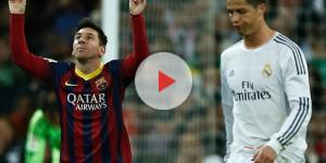 Cristiano Ronaldo y Lionel Messi se saludan